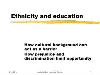 Ethnicity and education