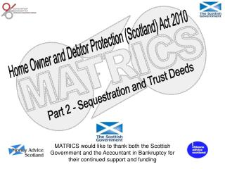Part 2 - Sequestration and Trust Deeds