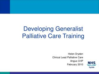 Developing Generalist Palliative Care Training