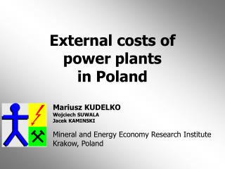 External costs of power plants  in Poland