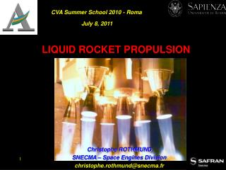 LIQUID ROCKET PROPULSION