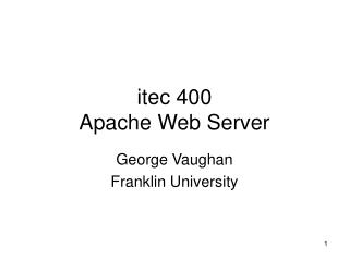 itec 400 Apache Web Server
