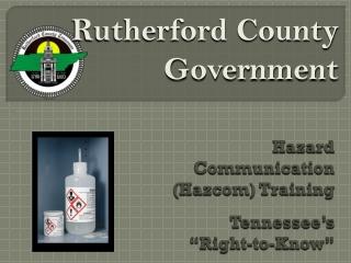 "Hazard Communication (Hazcom) Training Tennessee's ""Right-to-Know"""