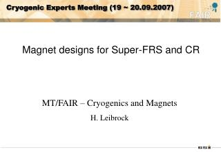 Cryogenic Experts Meeting (19 ~ 20.09.2007)