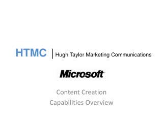 HTMC |  Hugh Taylor Marketing Communications