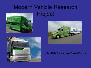Modern Vehicle Research Project