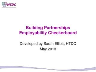 Building Partnerships Employability Checkerboard