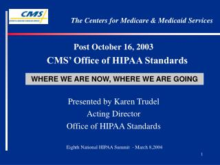 The Centers for Medicare & Medicaid Services