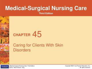 Caring for Clients With Skin Disorders