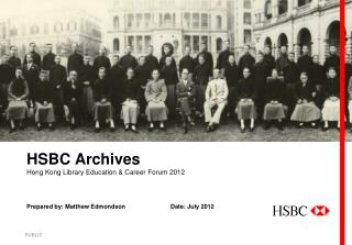HSBC Archives Hong Kong Library Education & Career Forum 2012