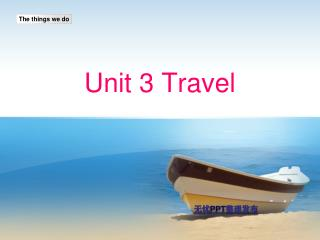 Unit 3 Travel