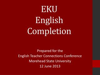 EKU  English  Completion