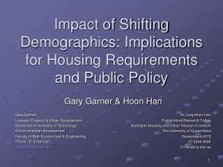 Impact of Shifting Demographics: Implications for Housing Requirements and Public Policy