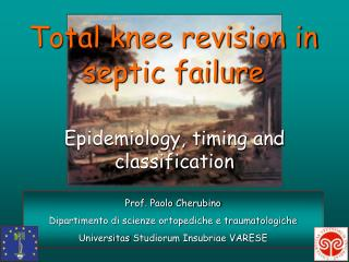 Total knee revision in septic failure