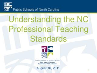 Understanding the NC Professional Teaching Standards