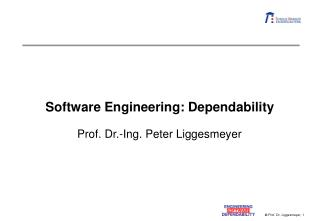 Software Engineering: Dependability