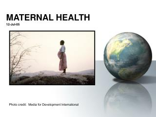 MATERNAL HEALTH 12-Jul-05