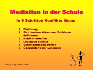 Mediation in der Schule