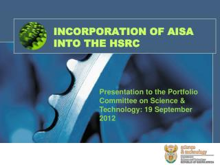 INCORPORATION OF AISA INTO THE HSRC