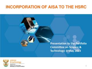 INCORPORATION OF AISA TO THE HSRC