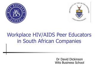 Workplace HIV/AIDS Peer Educators in South African Companies