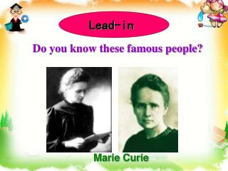 Do you know these famous people?