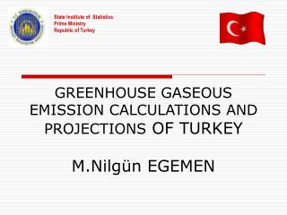 GREENHOUSE GASEOUS EMISSION CALCULATIONS AND PROJECTIONS  OF TURKEY M.Nilgün EGEMEN