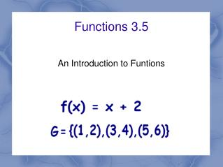 Functions 3.5