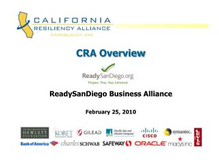 CRA Overview ReadySanDiego  Business Alliance  February 25, 2010