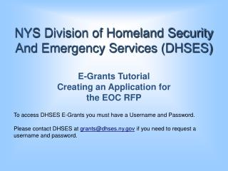 NYS Division of Homeland Security And Emergency Services (DHSES)