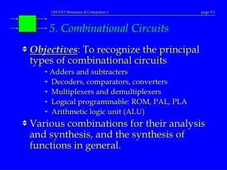 5. Combinational Circuits