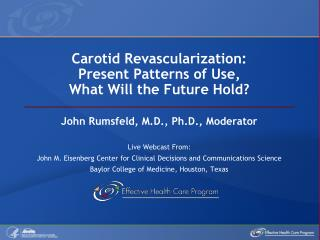 Carotid Revascularization: Present Patterns of Use,  What Will the Future Hold?