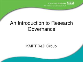An Introduction to Research Governance