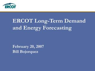 ERCOT Long-Term Demand and Energy Forecasting