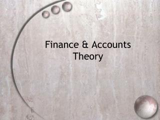 Finance & Accounts Theory