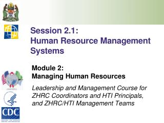 Session 2.1: Human Resource Management Systems