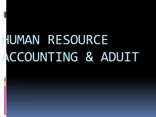 HUMAN RESOURCE ACCOUNTING & ADUIT