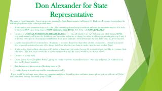Don Alexander for State Representative