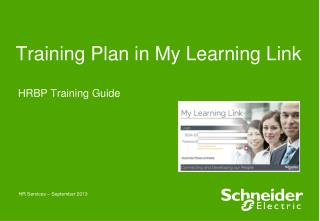 Training Plan in My Learning Link