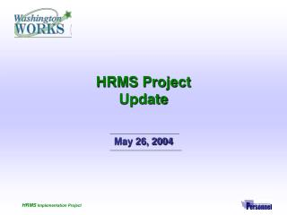 HRMS Project Update