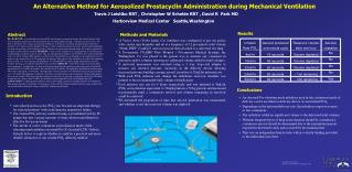 An Alternative Method for Aerosolized Prostacyclin Administration during Mechanical Ventilation