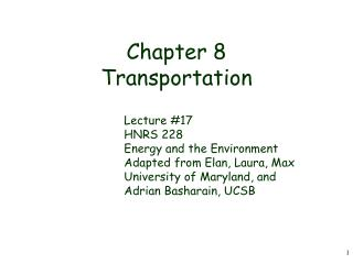 Chapter 8 Transportation