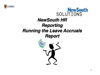 NewSouth HR Reporting Running the Leave Accruals Report