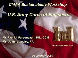CMAA Sustainability Workshop U.S. Army Corps of Engineers