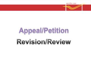 Appeal/Petition