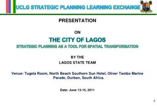 UCLG STRATEGIC PLANNING LEARNING EXCHANGE