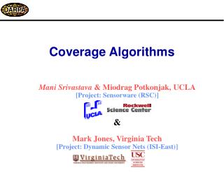 Coverage Algorithms