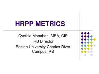 HRPP METRICS