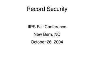 Record Security