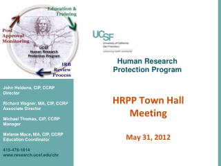 Human Research Protection Program